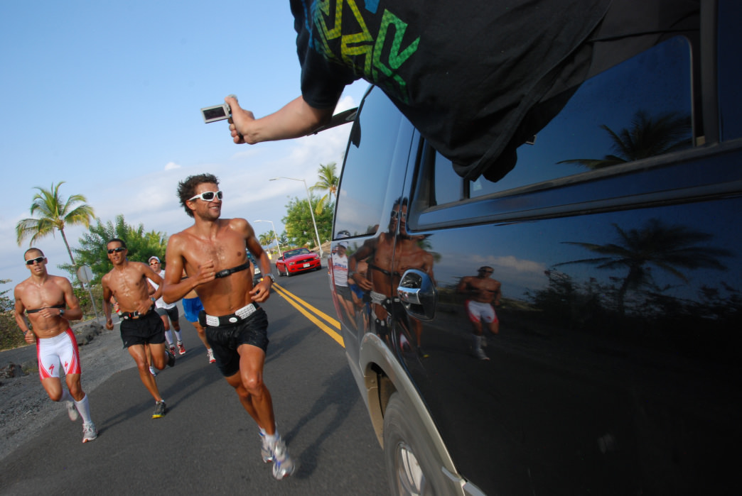 Ironman World Championship athletes must complete a 26.2-mile run.
