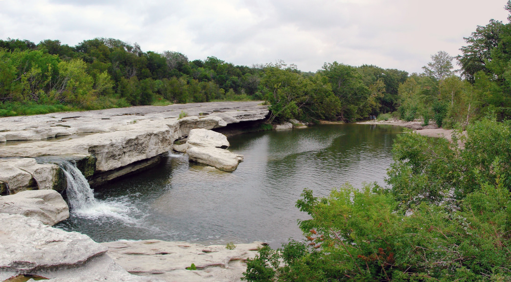 McKinney Falls State Park features several pools among the giant boulders.