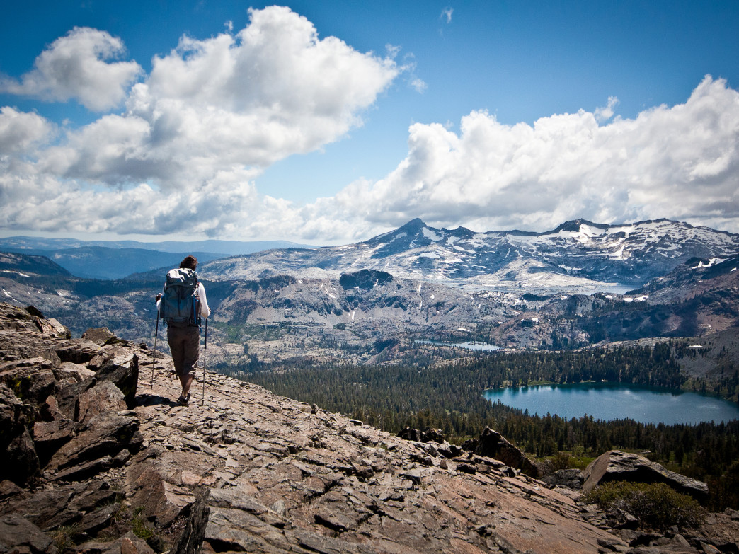 Overlooking the Desolation Wilderness