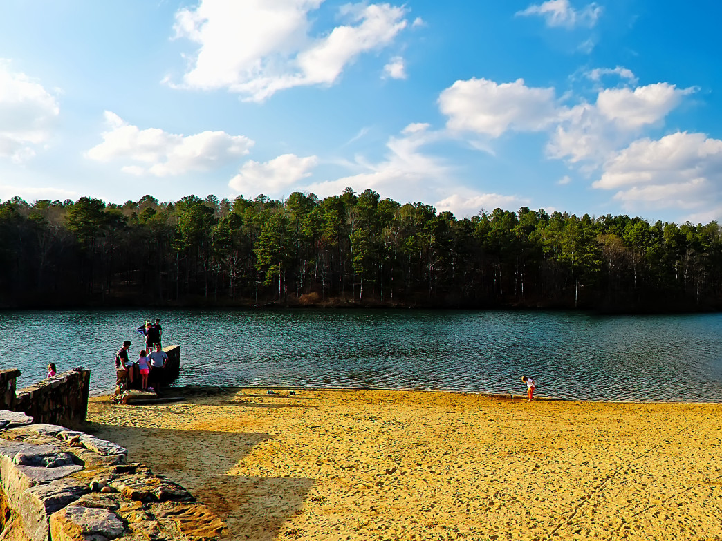 Enjoy the beach at Oak Mountain State Park.