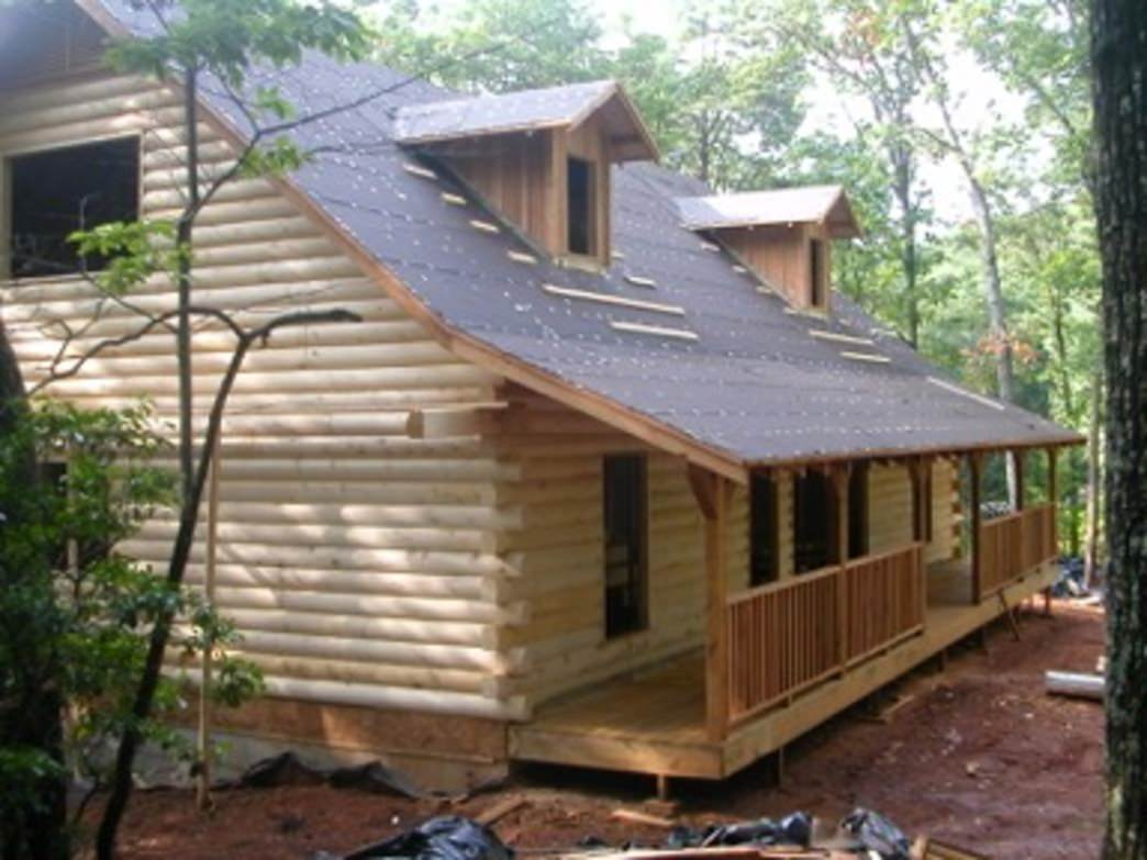 The Hiker Hostel under construction.