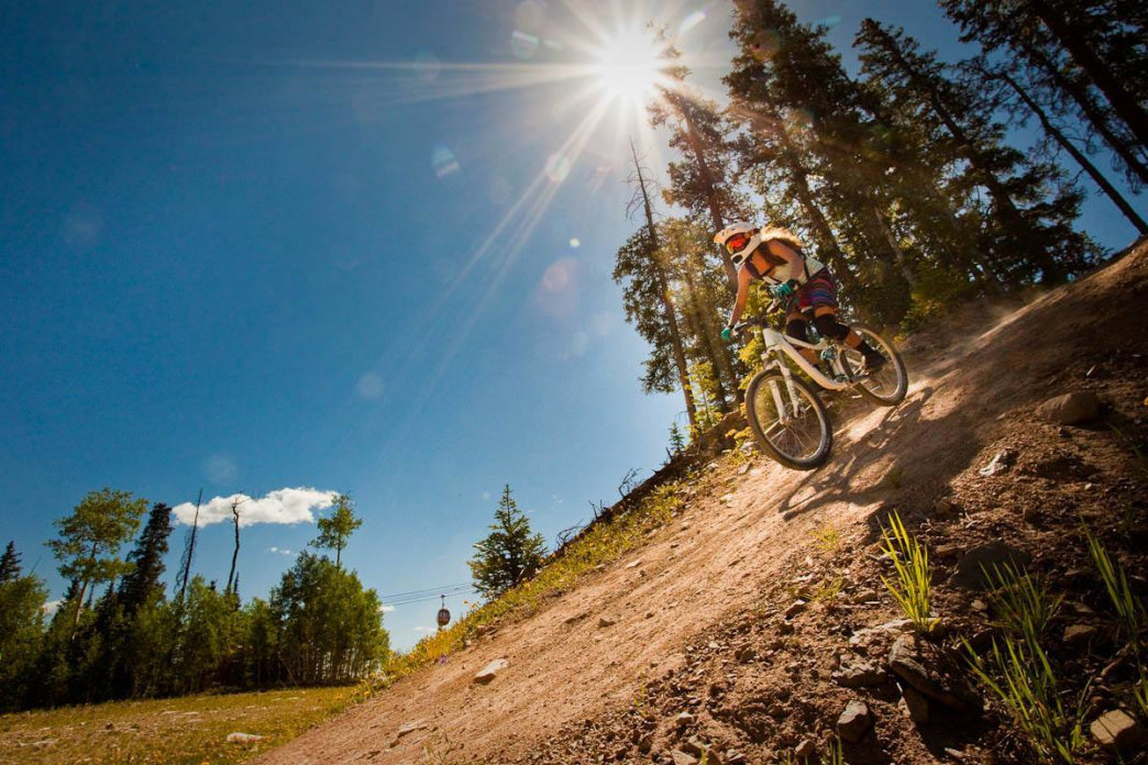When riding from Snowmass to Aspen, it's possible to tack on some lift-accessed downhill laps at Snowmass Bike Park.