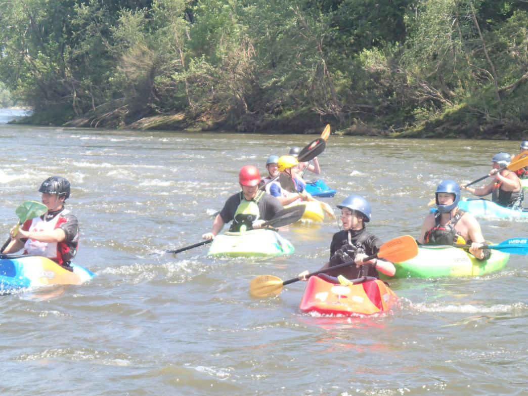 Outfitters can help beginners learn the basics of kayaking on the Coosa.