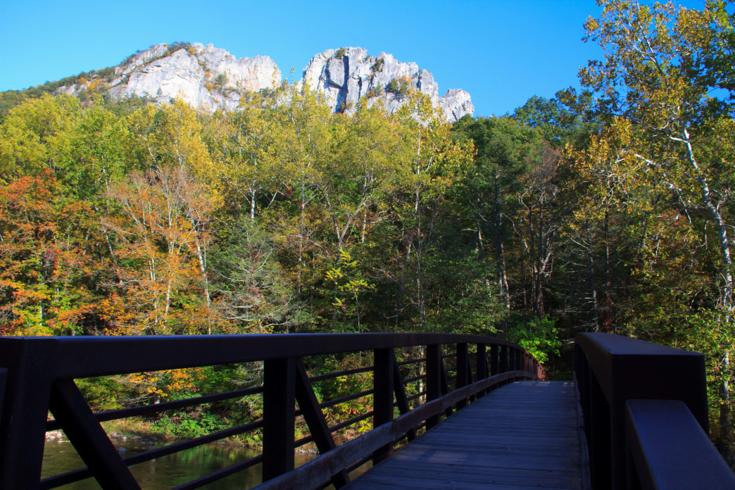 Seneca Rocks has climbing routes for everyone from beginners to experts.