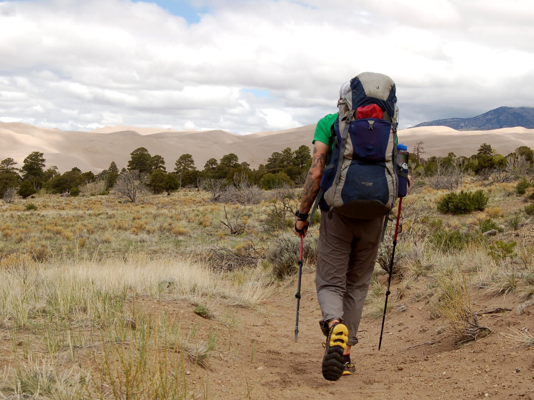 Backpacking in Great Sand Dunes National Park.