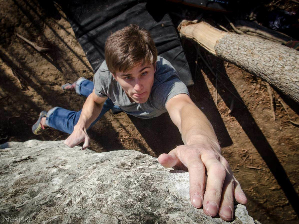 Bouldering at McKinney Falls State Park