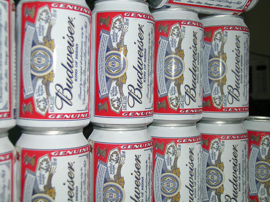 Budweiser is the beer of choice for many beer milers.