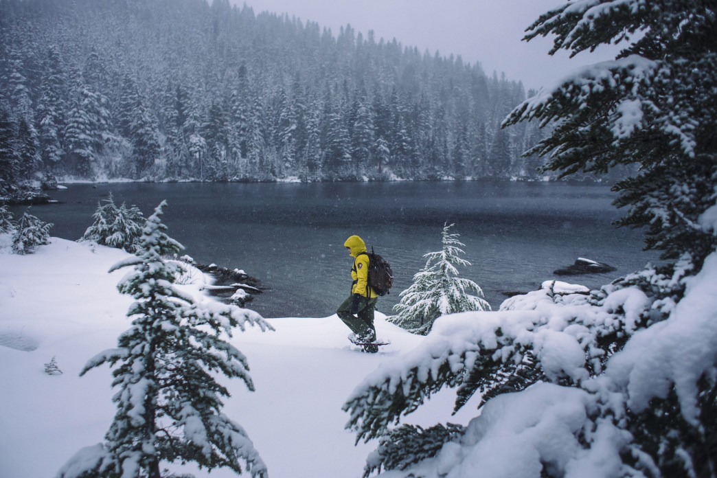 There's no feeling quite like floating over a few feet of snow with your snowshoes.     Jeff Bartlett