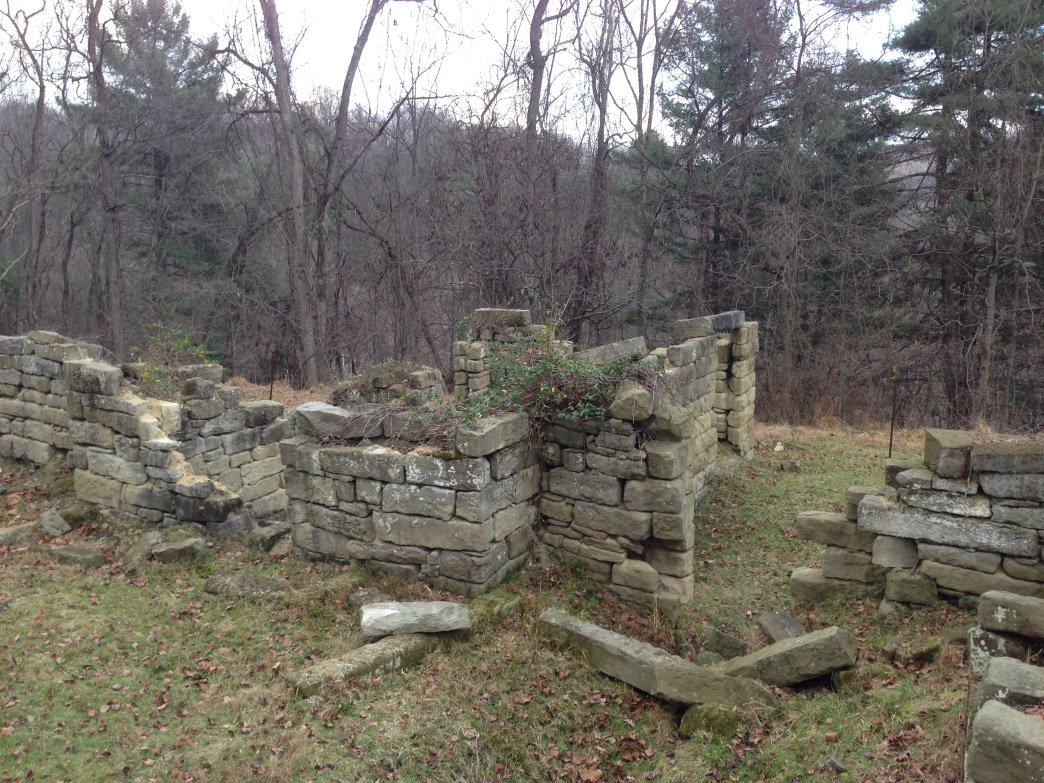 What remains of the once elegant Thornhill mansion
