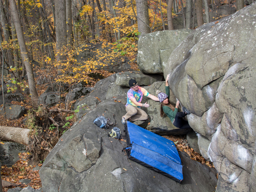 Bouldering at Haycock Mountain