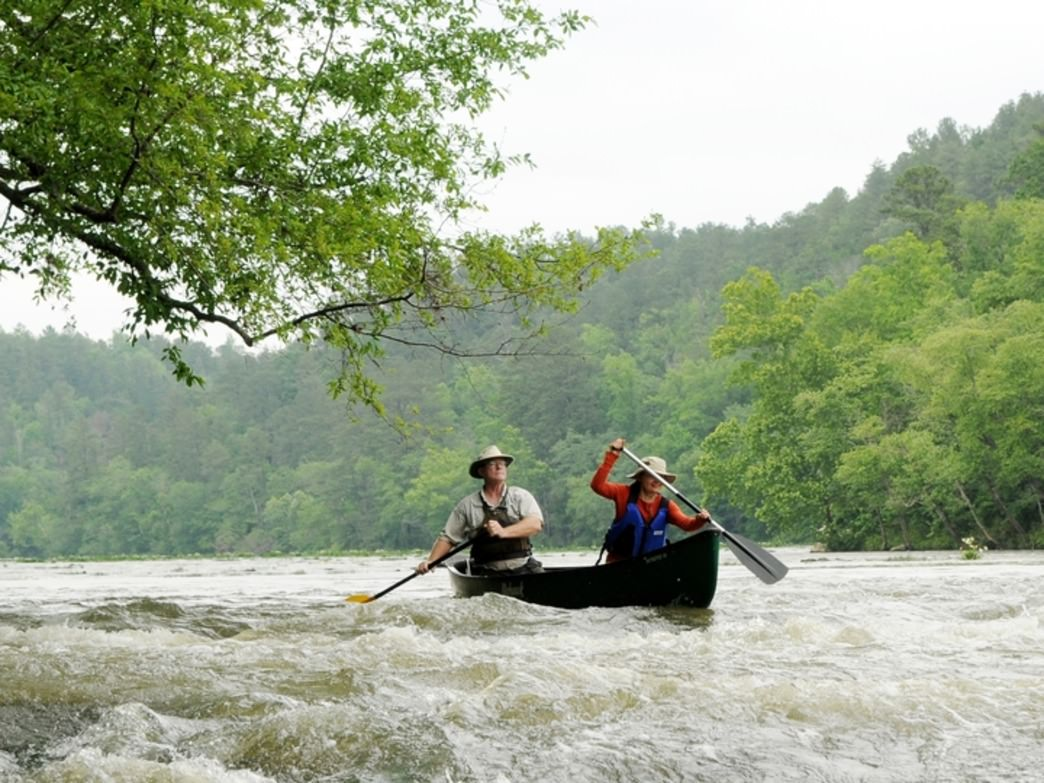 Canoeing the Cahaba River.