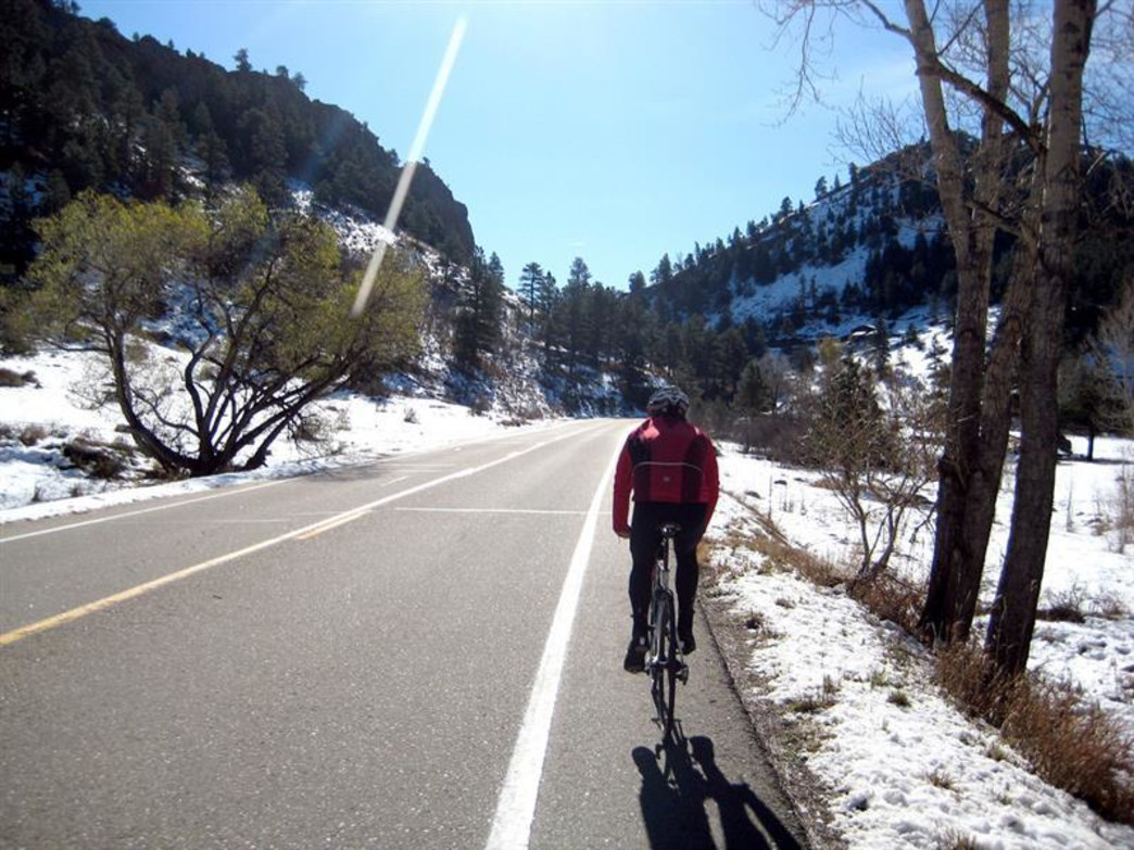 A spring ride up Left Hand Canyon.