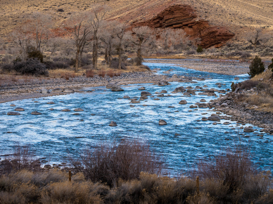 The 185-mile Wind River runs from the heights of the Wind River Range down into the valley and through Dubois.