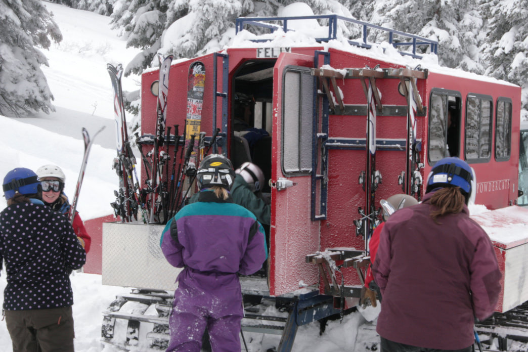 One snowcat typically holds 12 people.
