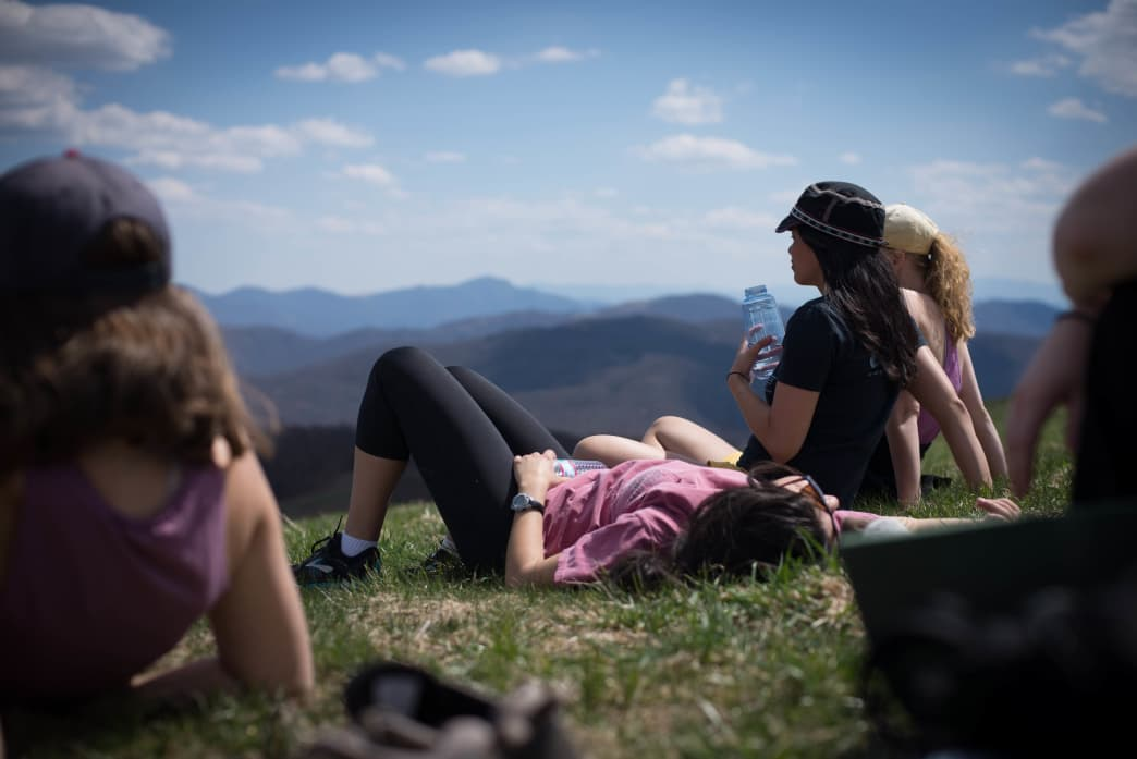 Relaxing at Max Patch