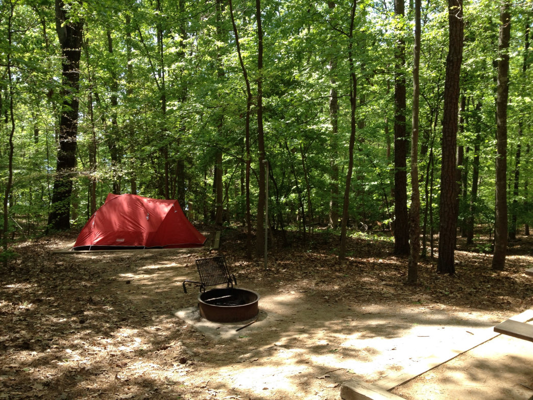 33-site campground tucked away from the more crowded beach at lake Norman