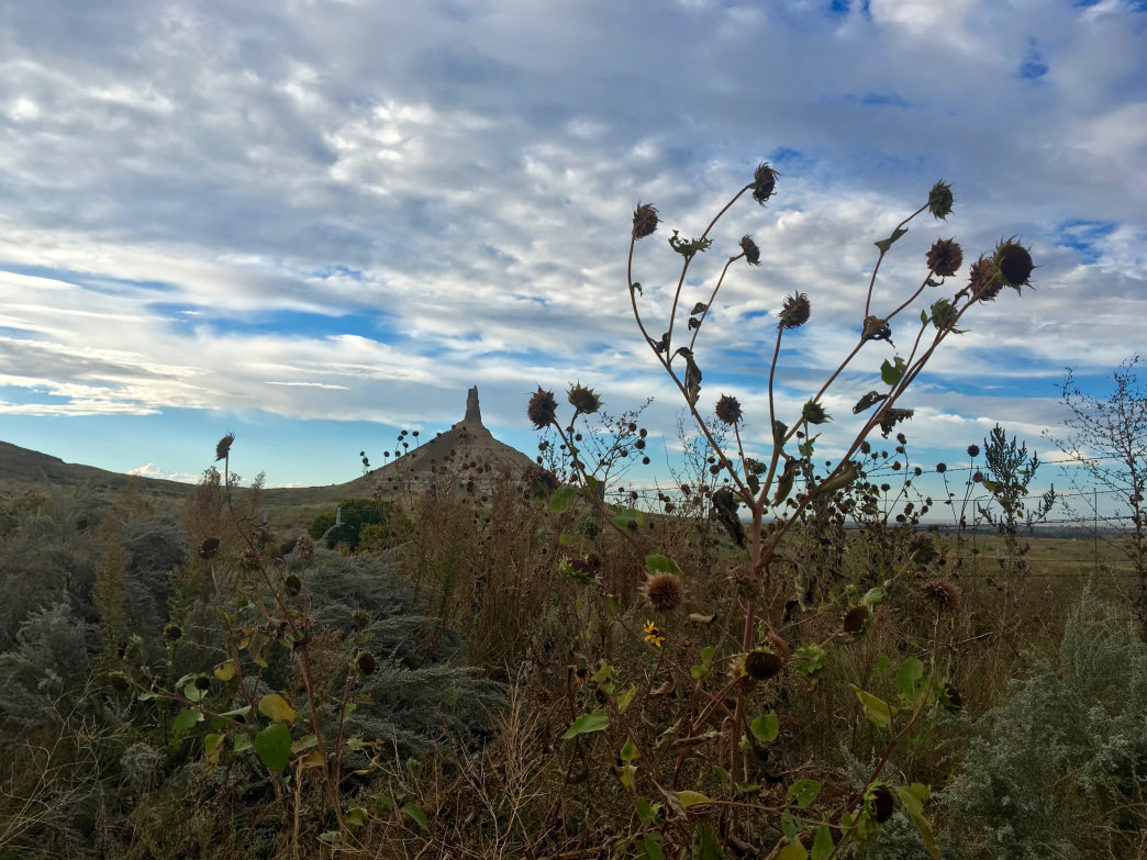 Chimney Rock is one of the most recognizable landmarks along the Oregon Trail.