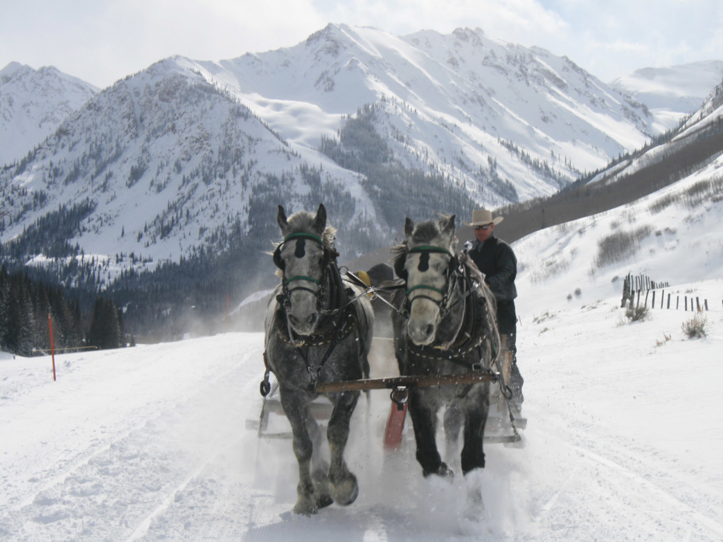The Pine Creek Cookhouse will deliver you to its door via horse-drawn sleigh if you so desire.
