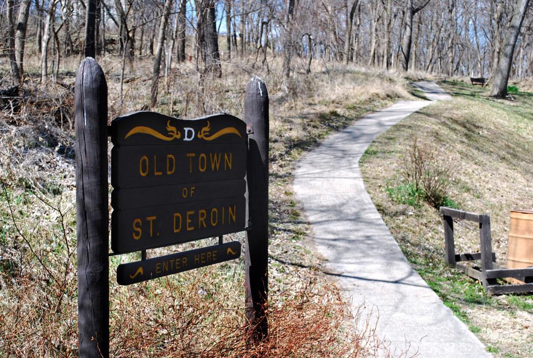 Beware as you hike around the trails in St. Deroin, a ghost town in the middle of Indian Cave State Park.
