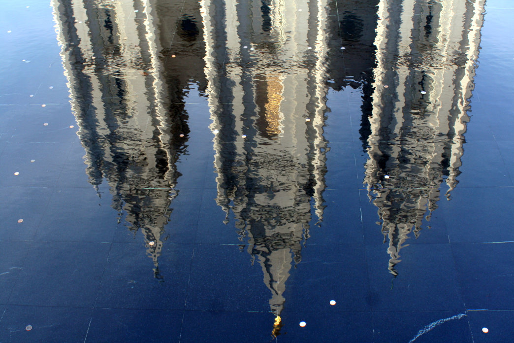 Reflection of the temple.