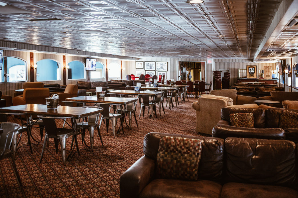 3rd Deck Burger sits on the upper level of an iconic riverboat.     Lauren Brooks