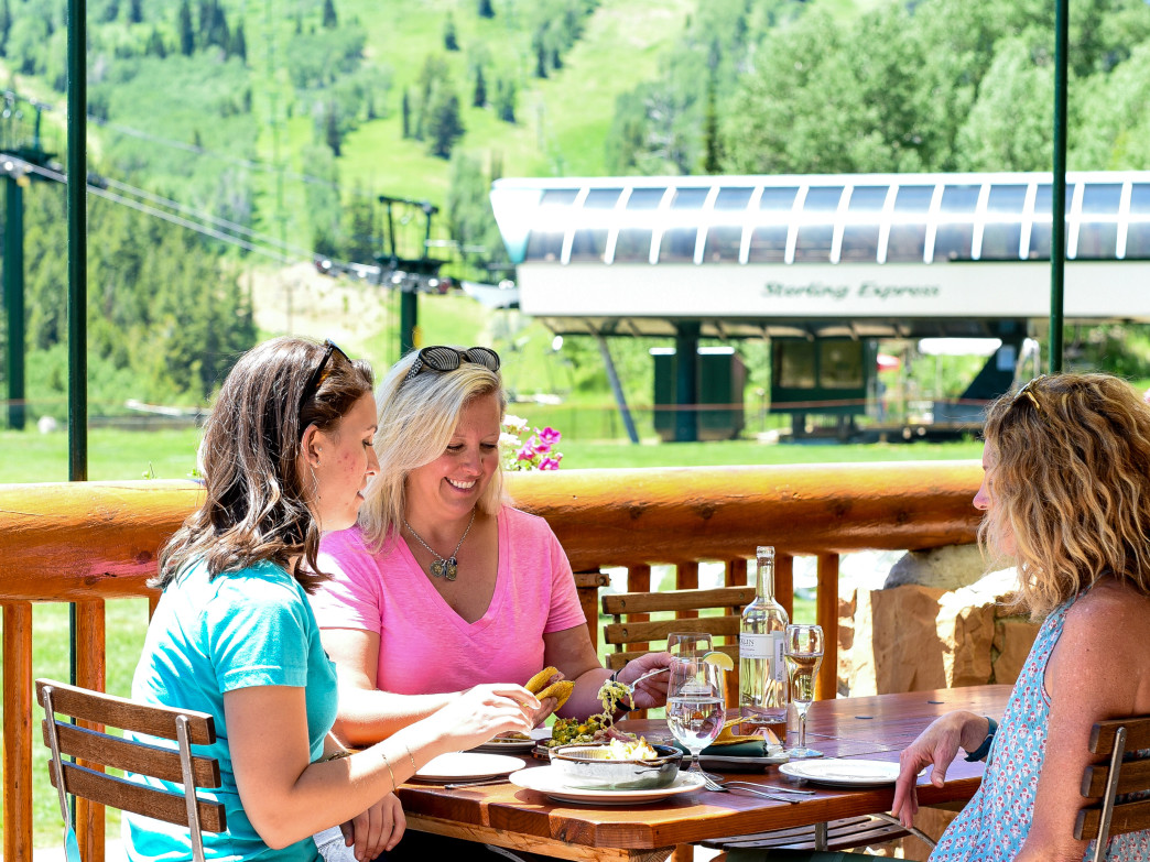 Enjoy mid-mountain riding at the Royal Street Café.