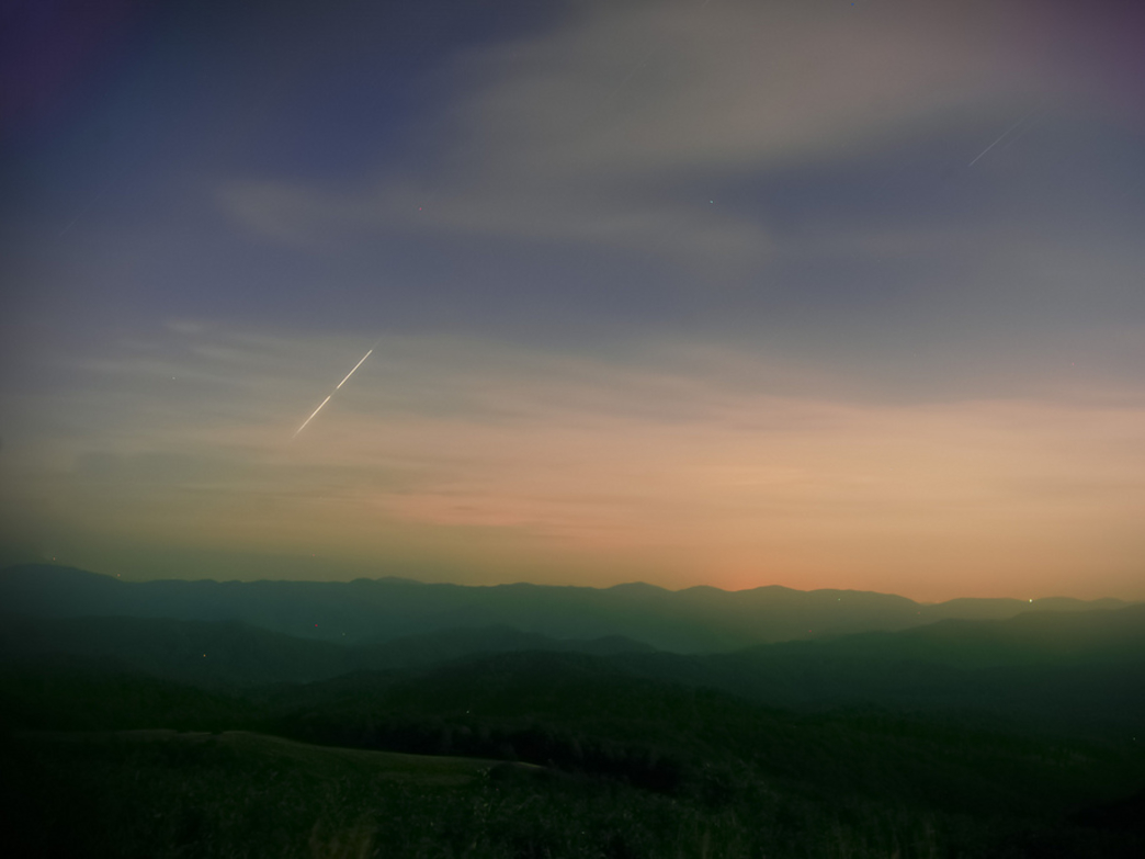 The sun sets over Max Patch