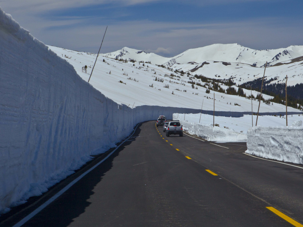 Heavy snow years like 2011, pictured here, make clearing Trail Ridge Road through Rocky Mountain National Park a daunting task.