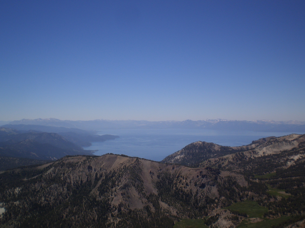 Hikers are rewarder with panoramic views of Lake Tahoe from the summit.