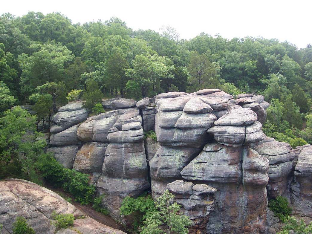 Illinois' Garden of the Gods State Park, one of the highlights along the River to River Trail
