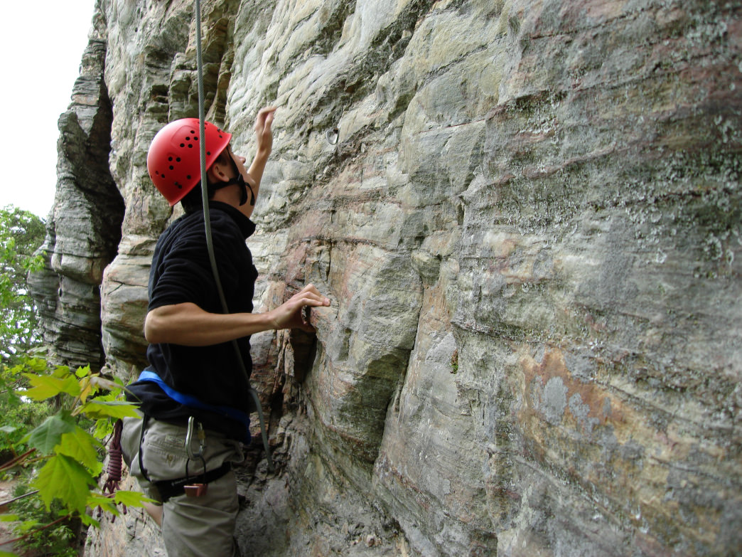 Sauratown offers some of the best winter cragging in the southeast.