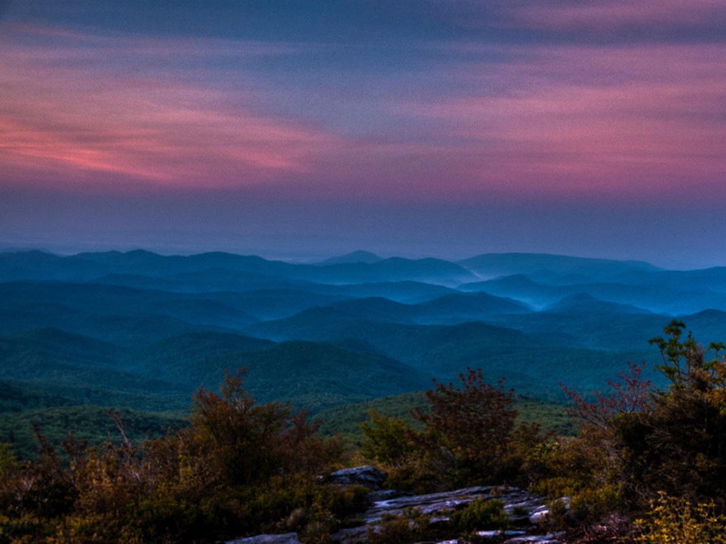 Sunrise from Rough Ridge, just off of the Blue Ridge Parkway, is a spectacular sight.