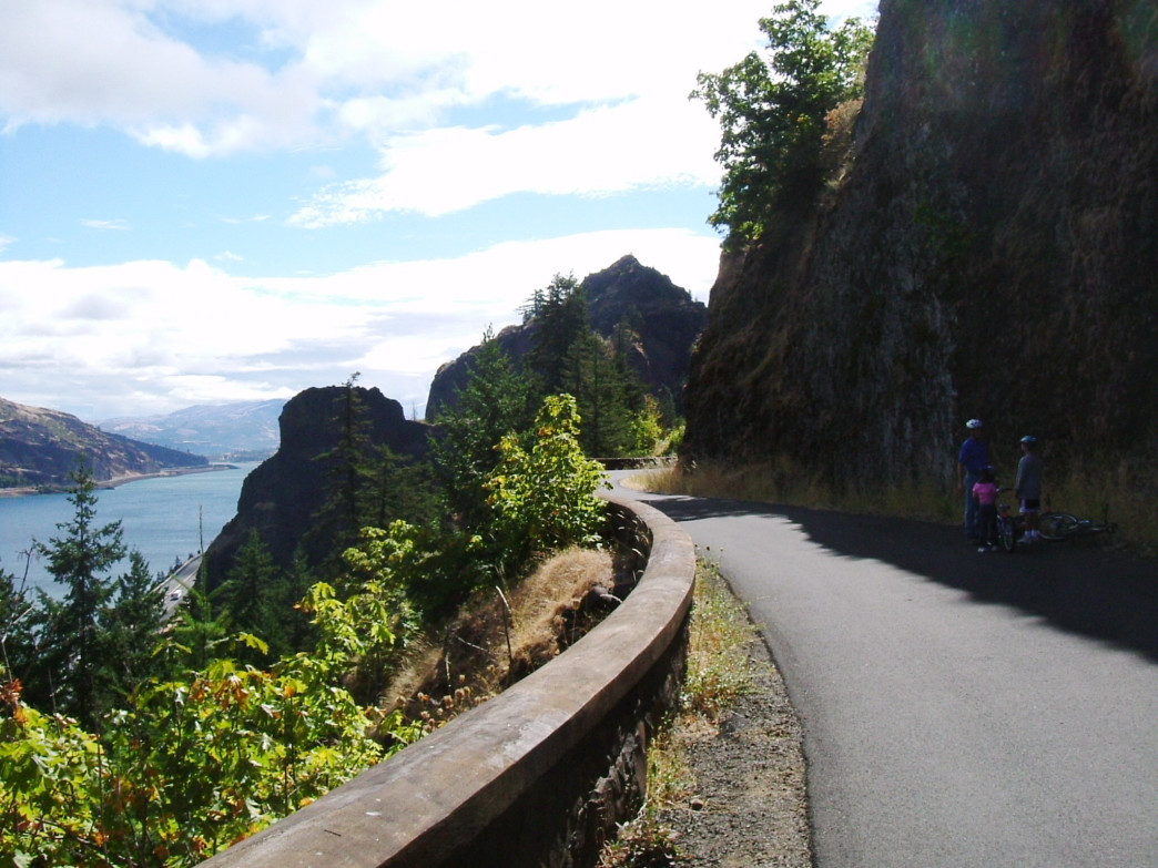 Take in beautiful views of the Columbia River Gorge from the bike path at the Mosier Twin Tunnels.