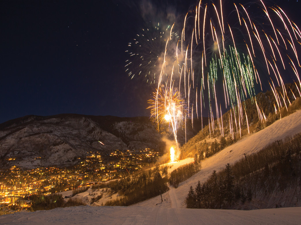 The view of fireworks from Norway on the lookers right of ASpen Mountain, is a sight not to be missed.