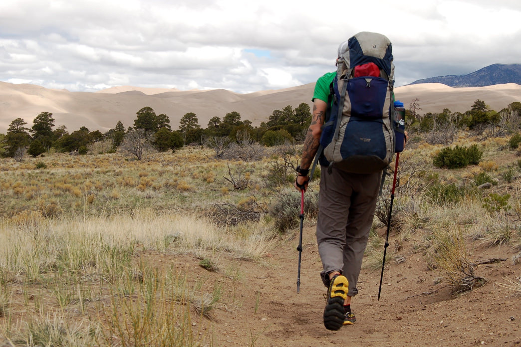 Great Sand Dunes National Park's Sand Ramp Trail offers gorgeous backpacking at the base of the Sangre de Cristo Mountains.