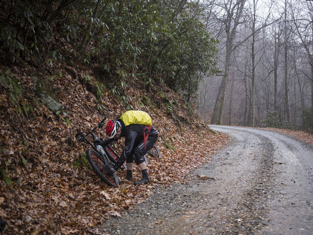 Remember, kids, always invite your bike mechanic along. And snap photos when he's trying to fix your suddenly-dysfunctional derailleur in a steady rain, instead of helping.