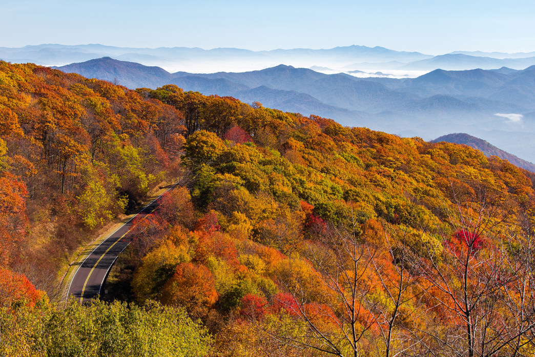 Cherohala Skyway offers access to incredible sunset hikes.
