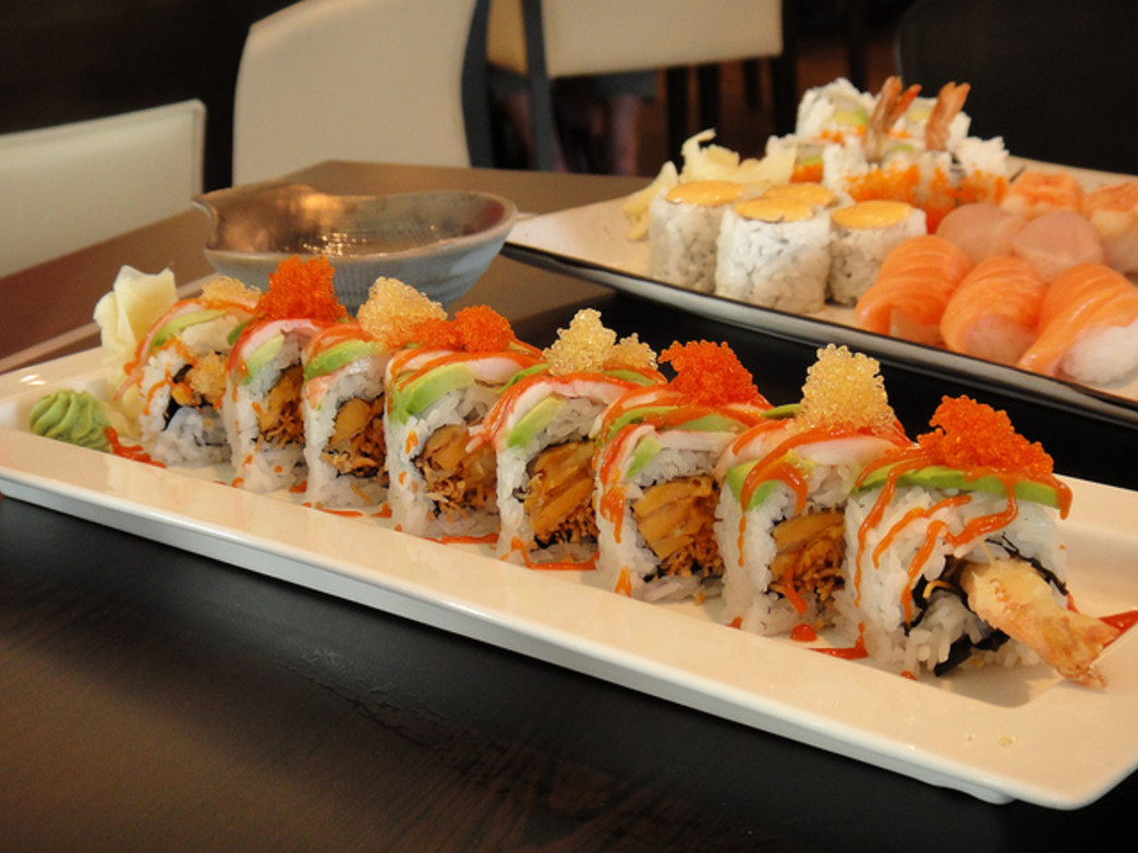 After a long bike ride, savor some sushi at Nikai.