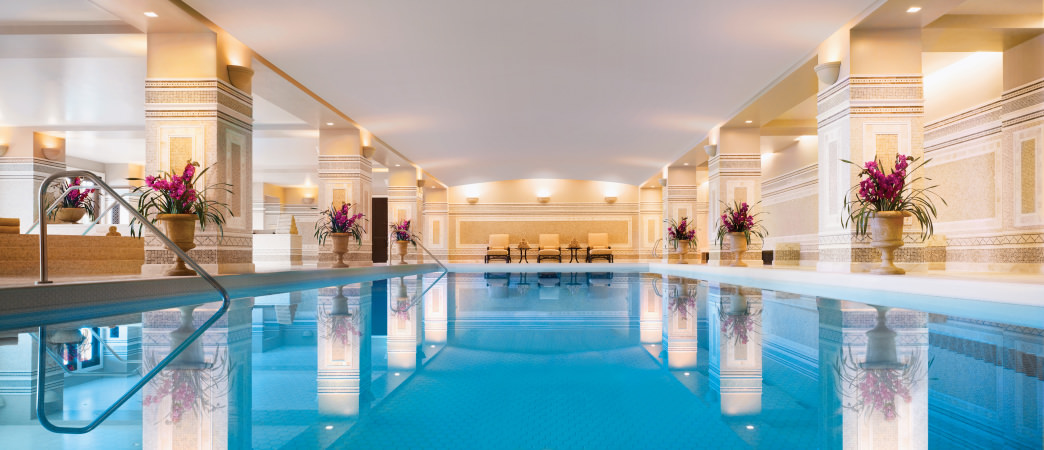 Relax in the pool at the Montage Spa.
