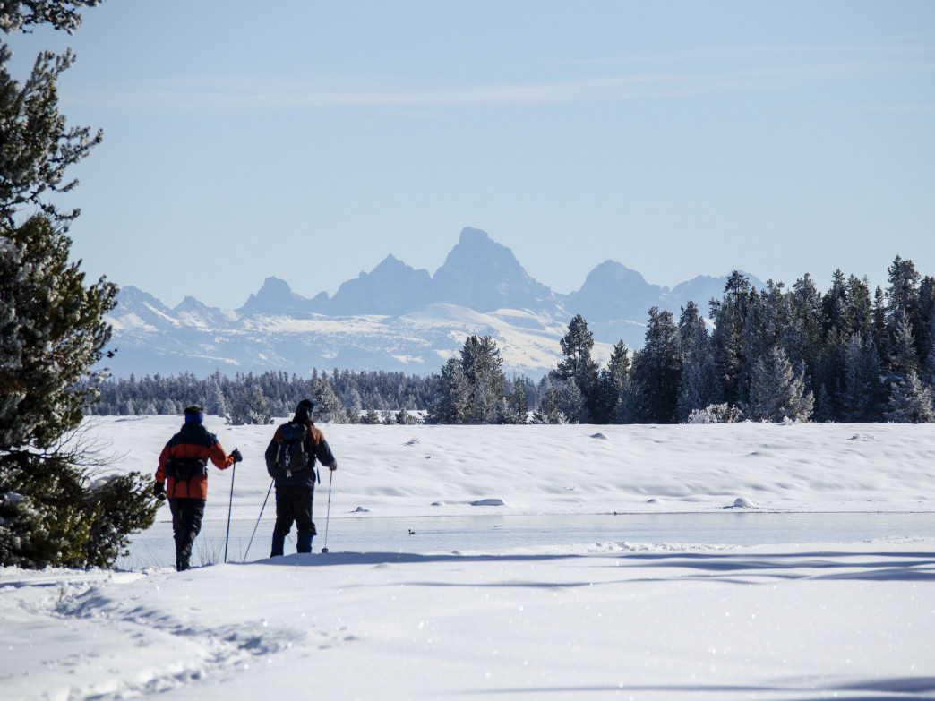 Grand Teton National Park is popular with cross country skiers.