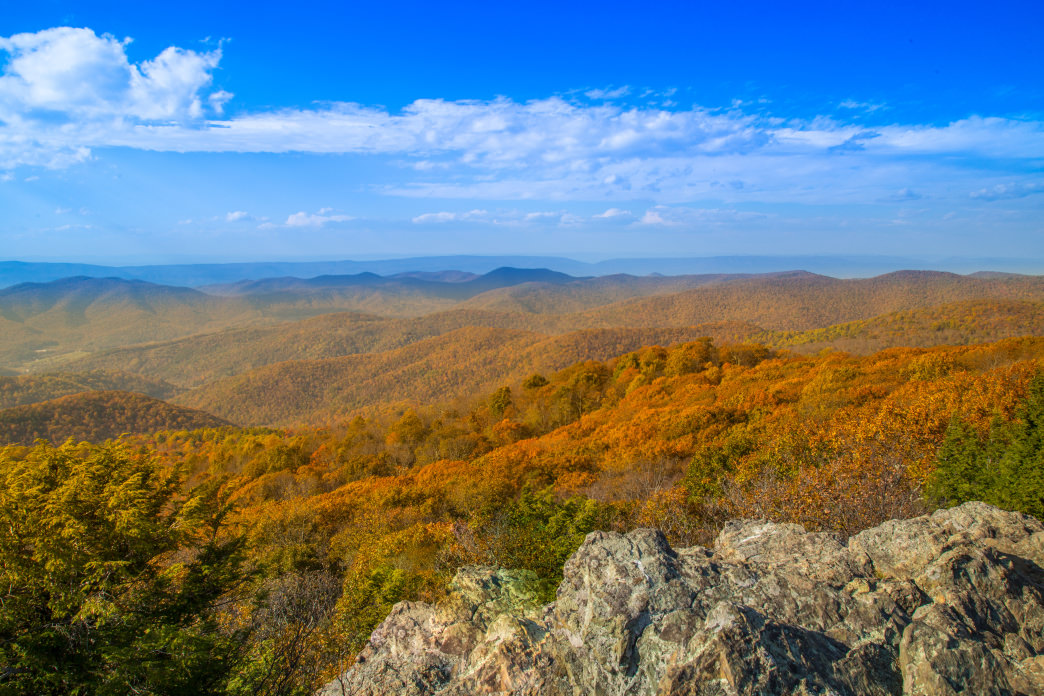 Bearfence Mountain is great for fall views.