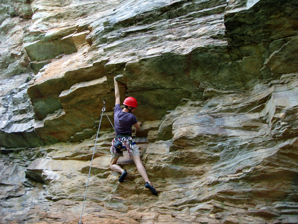 Climbing at Sauratown is limited to December 1 to March 31.