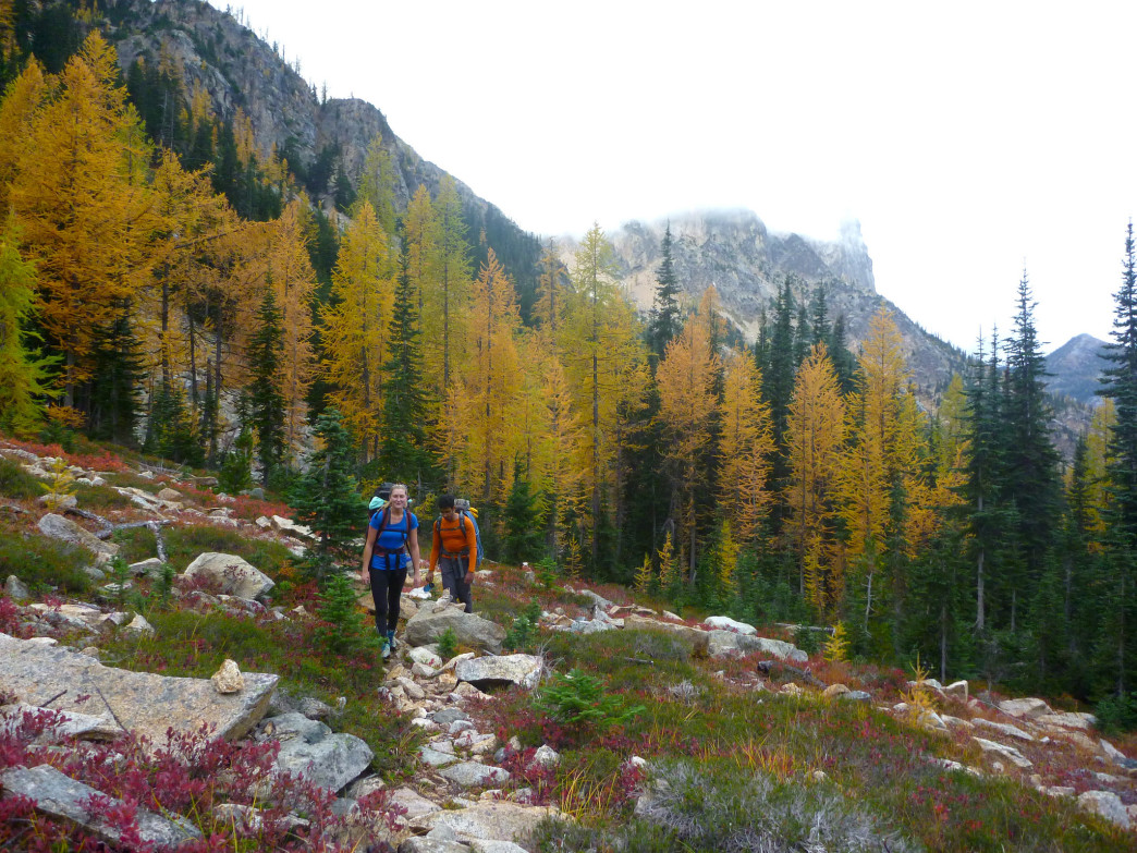 Fall foliage is just one of the perks of going on a backpacking trip after the high season ends.