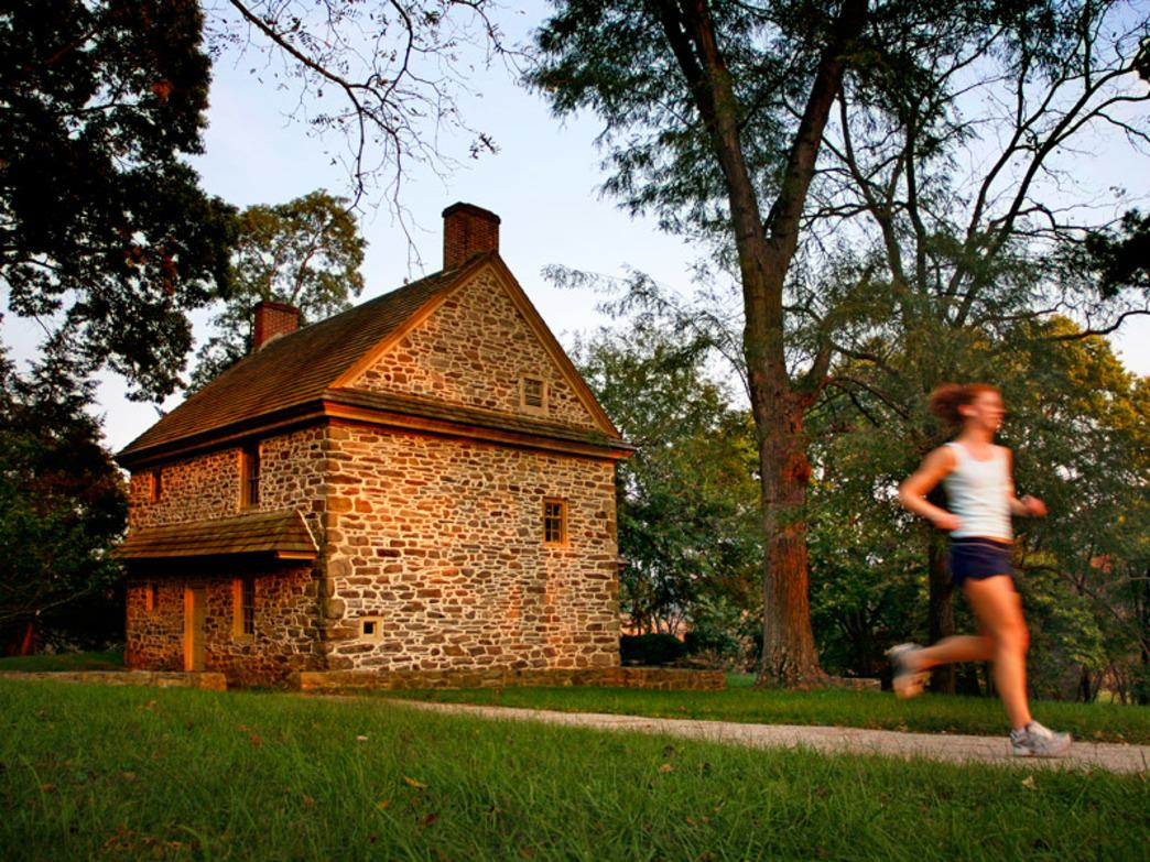 Valley Forge National Historic Park has become a favorite for Philly runners, with almost 30 miles of trails.
