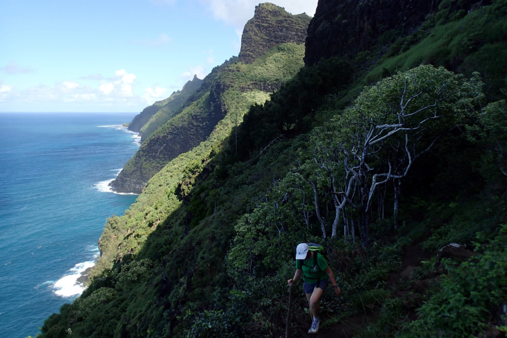 Hiking the Kalalau Trail is difficult, but the views are amazing.