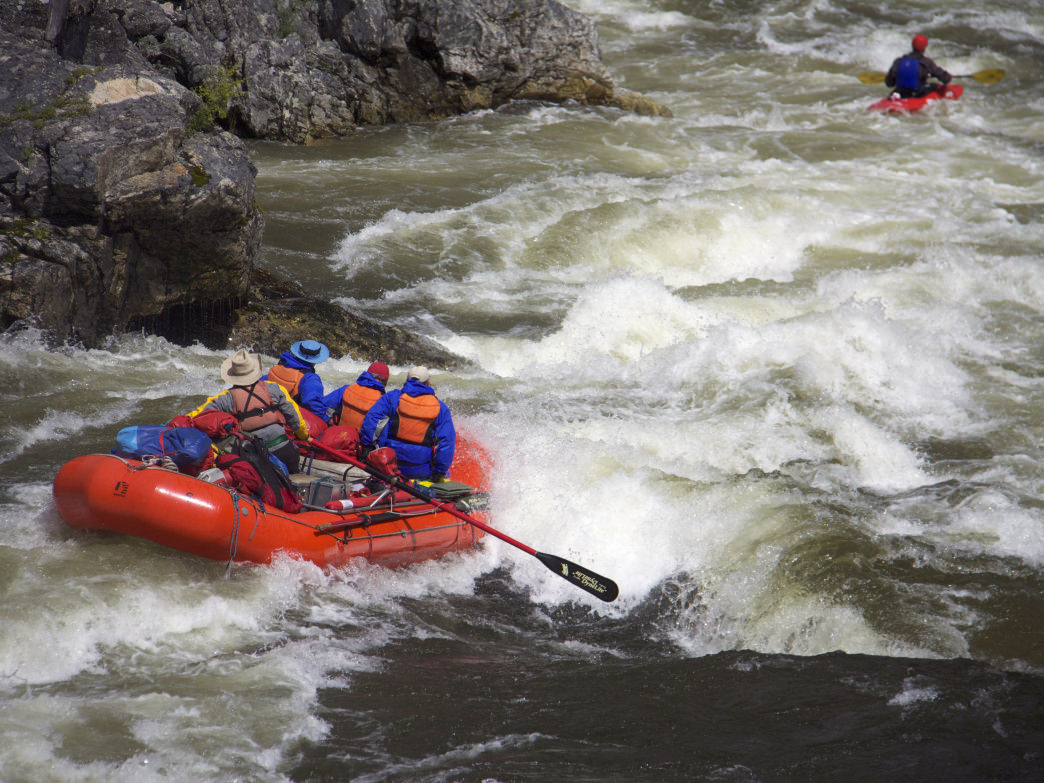 Into the wild and scenic rapids of Idaho.