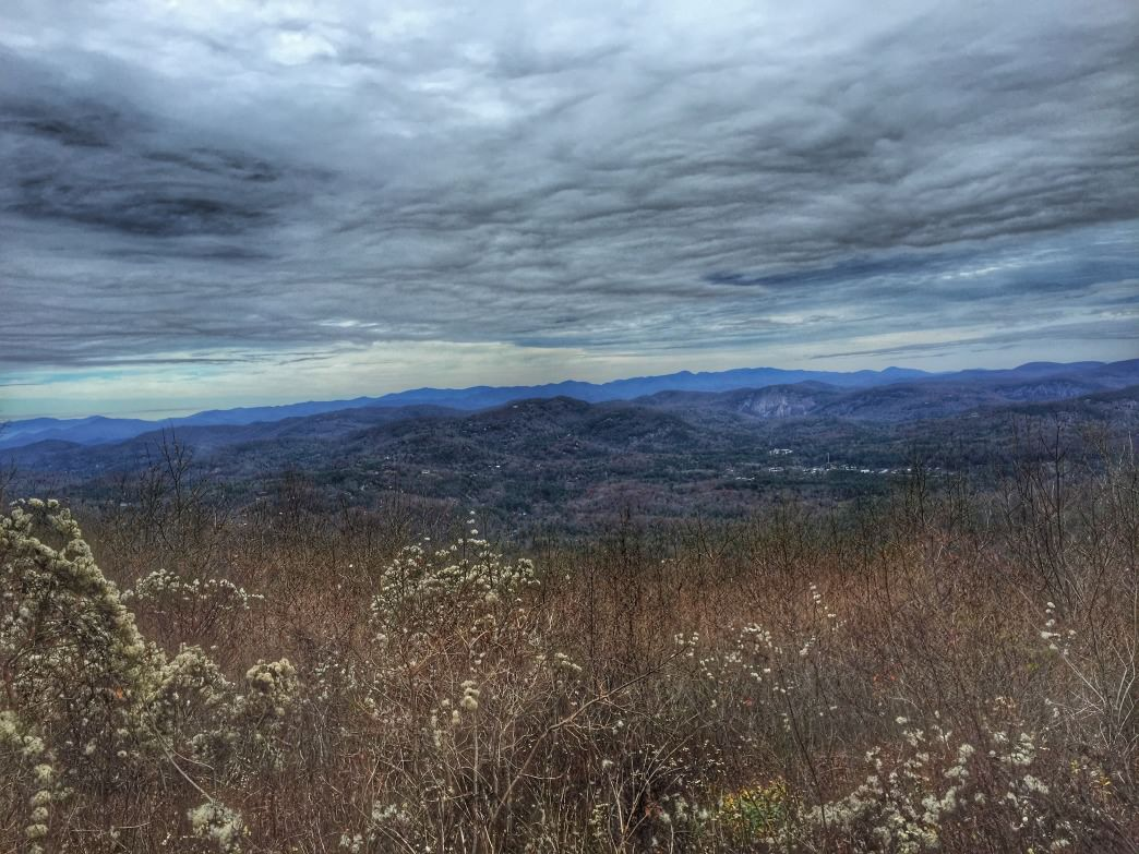 The winter view from Rabun Bald lookout tower.