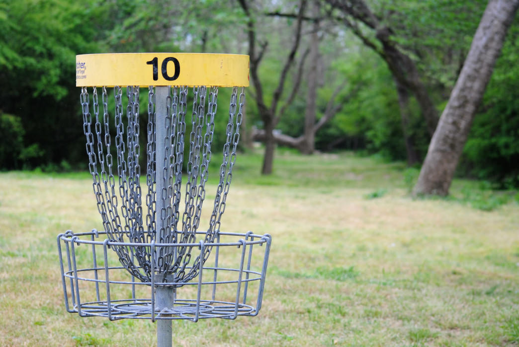 Try your hand at disc golf at the 18-hole course on Goat Island.