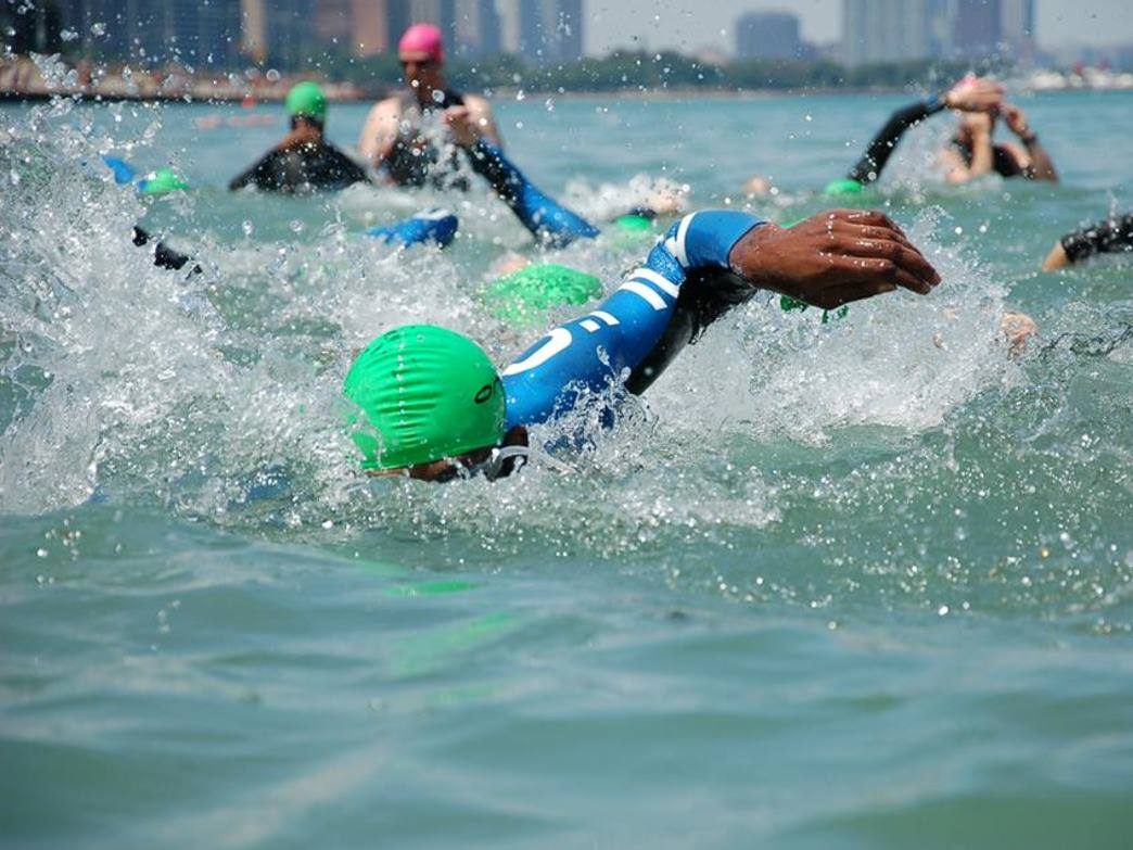 The Chicago Triathlon offers swim clinics at the Ohio Street Beach, one of the best options for open-water swimming in the city.