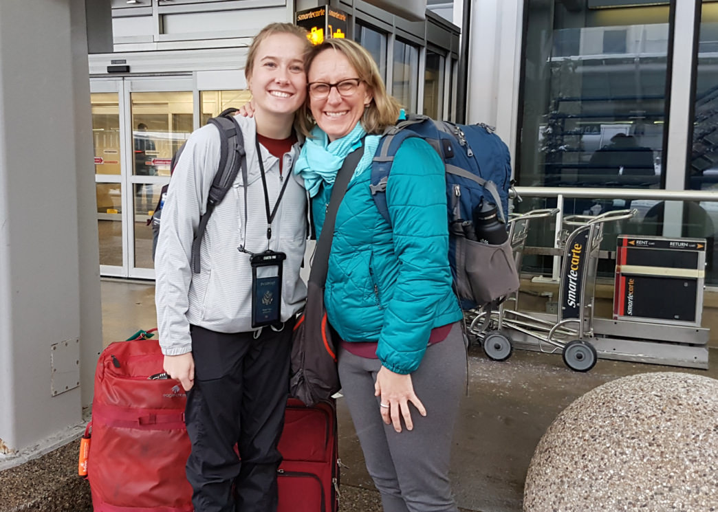 Lindsey Sommerfelt (left) and her aunt Sherry Ott traveled to New Zealand in December 2016 for the Niece Project.     Photo courtesy of Sherry Ott